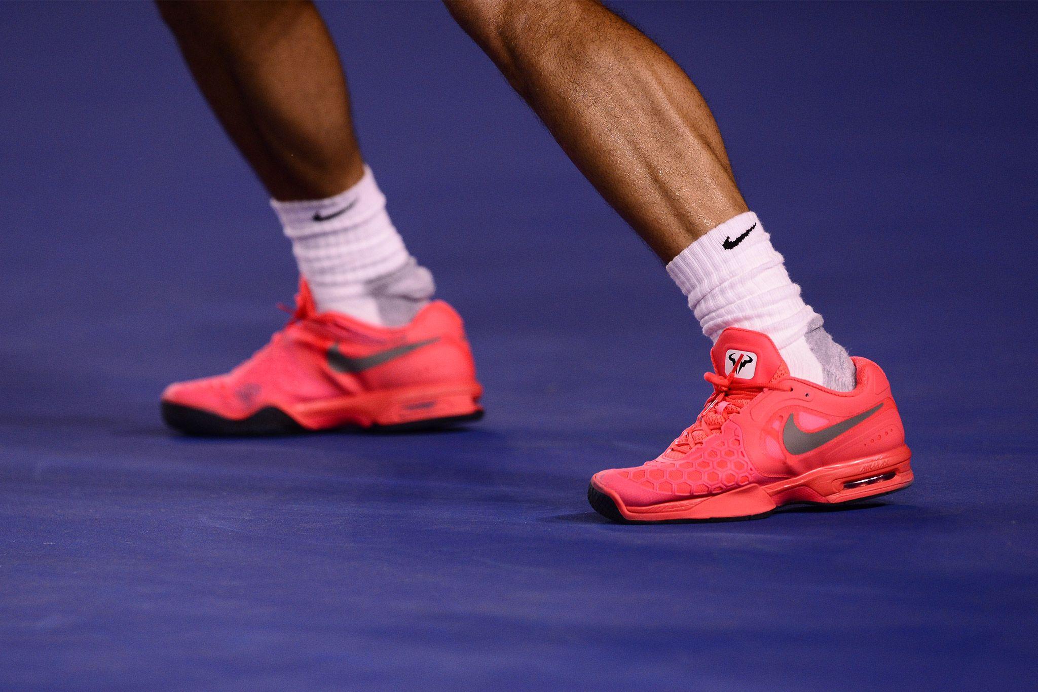 Rafael Nadals Shoes Australian Open 2014 Nike Kicks Nike Tennis Nike
