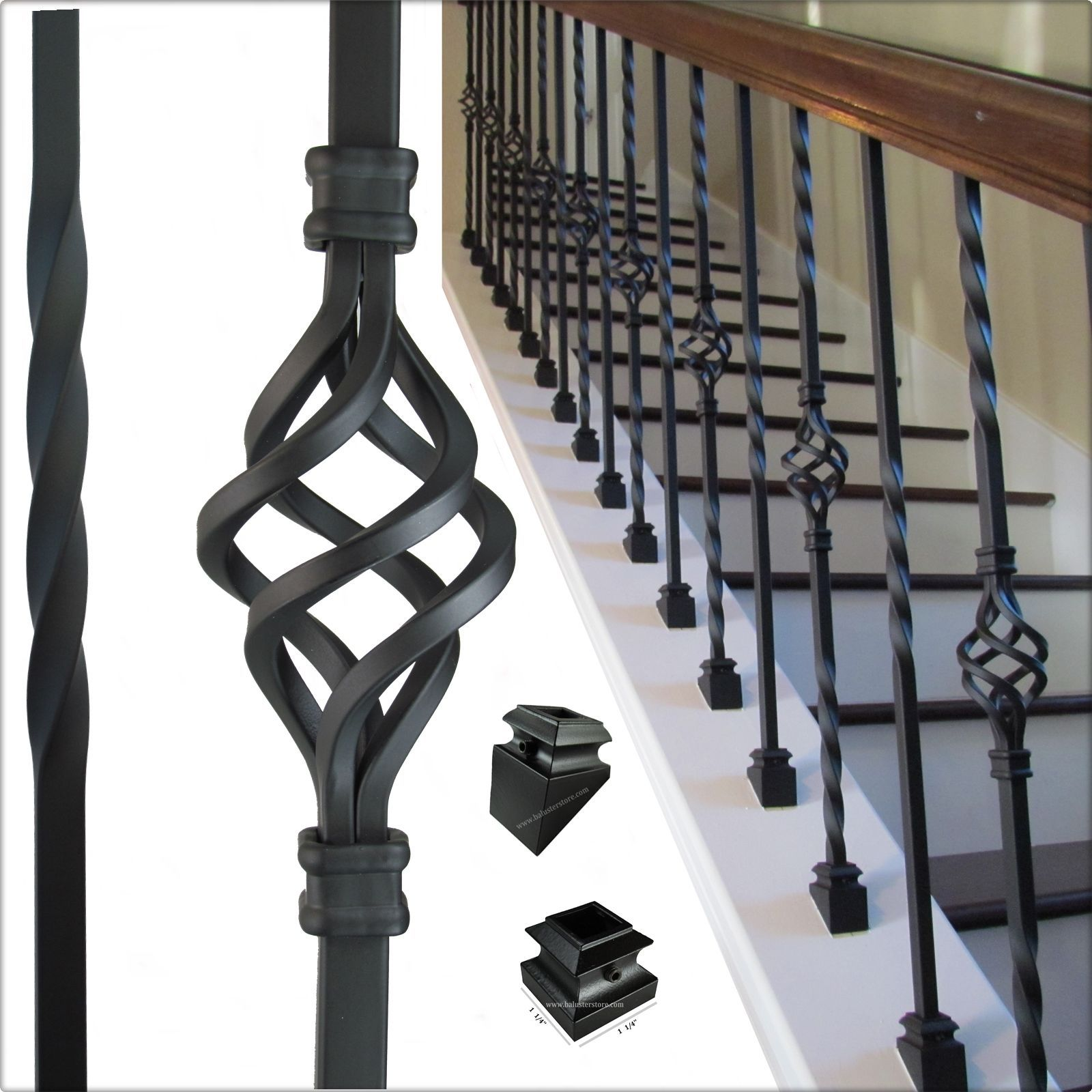 Best High Quality Iron Balusters For Stair Railing Balconies 640 x 480