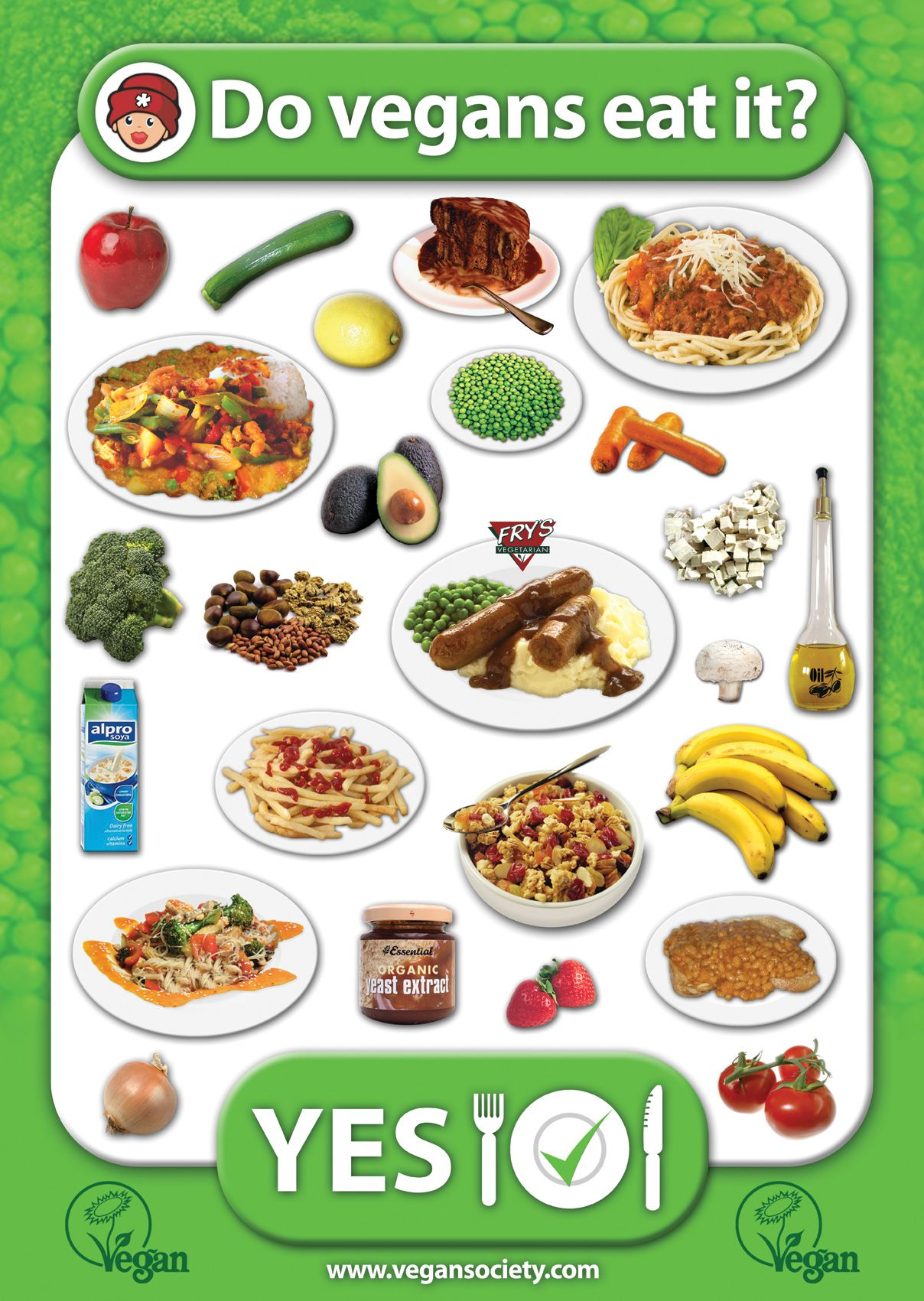 Vegan Society Poster Do Vegans Eat It Yes Vegan Facts