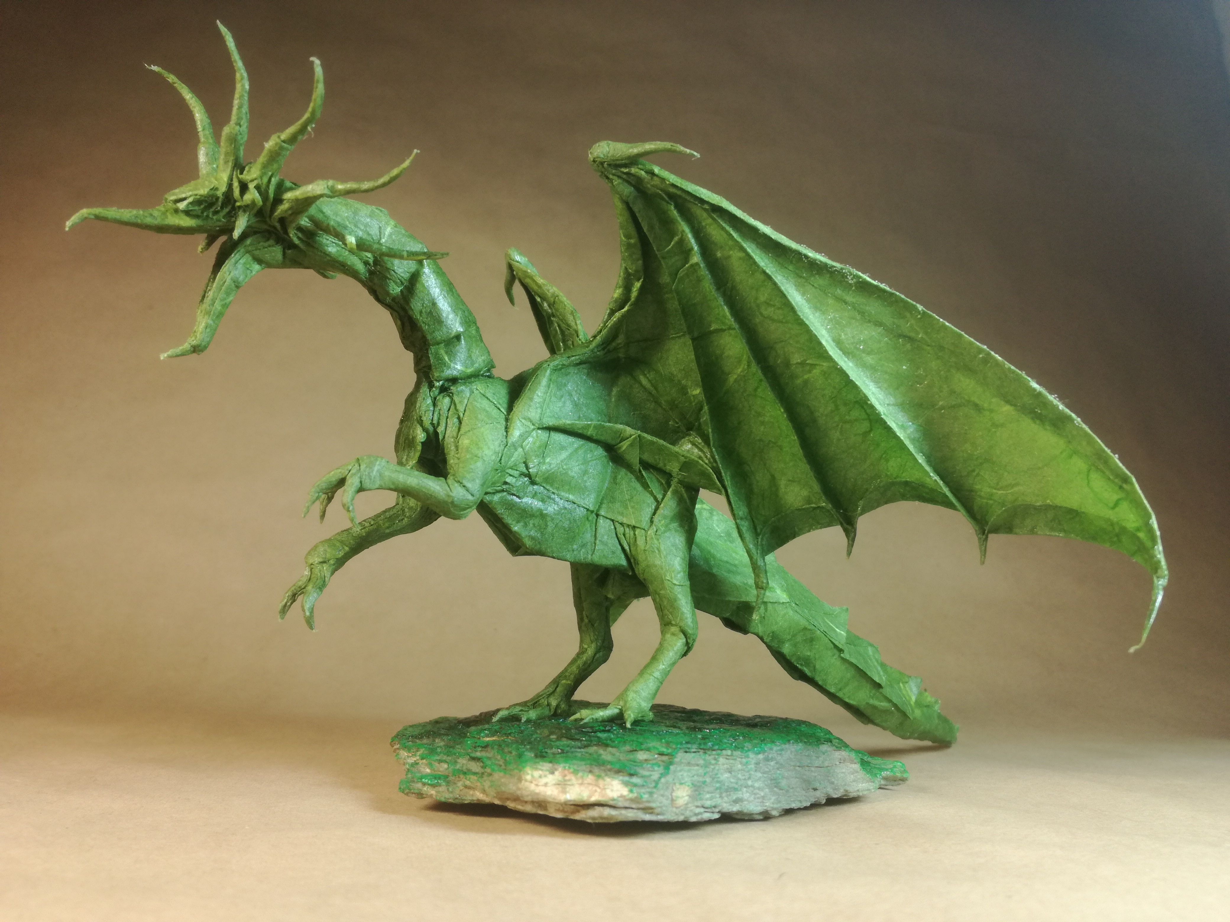 Origami 3 headed dragon in flight part 2 of - YouTube | 3120x4160