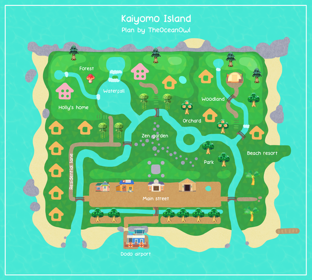 Here is the plan for my island! - AnimalCrossing | Animal ...