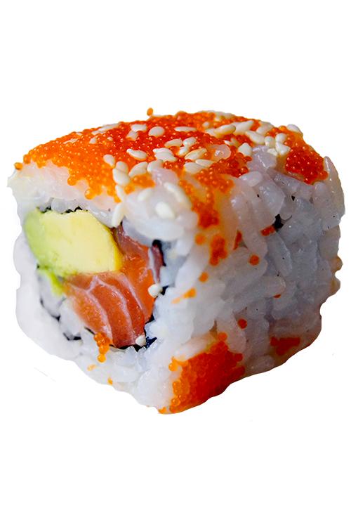 Salmon California Roll Uramaki Sushi Sushi Rolls Sushi Rolls