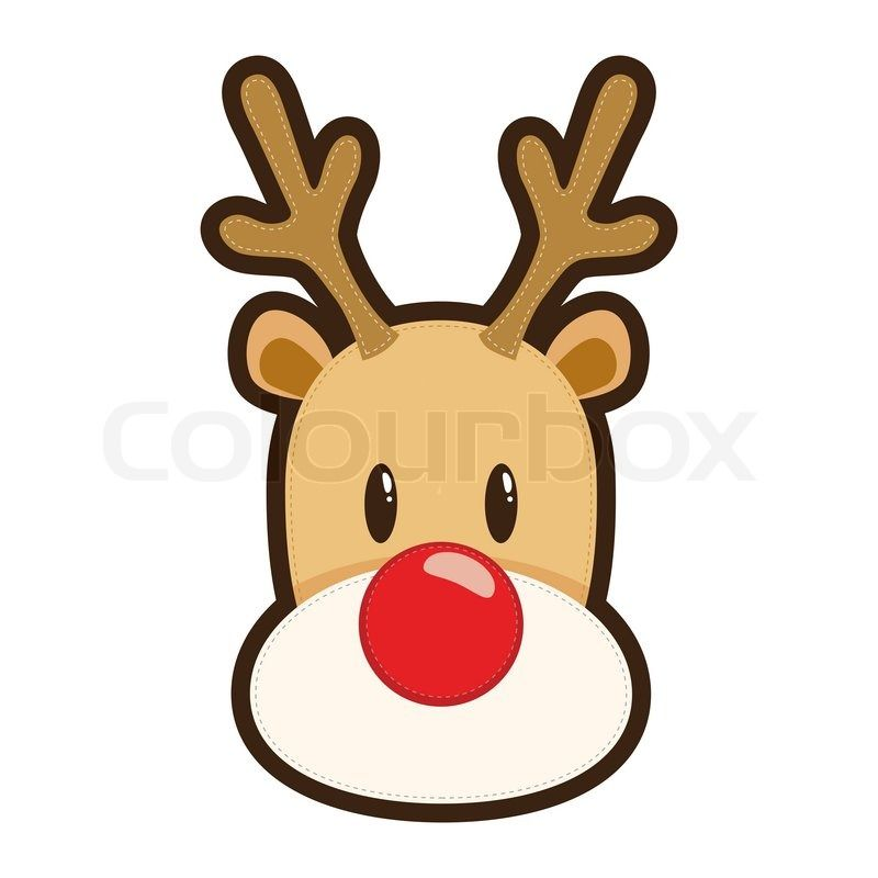Rudolph the red nosed reindeer face drawing noel for Rudolph the red nosed reindeer template