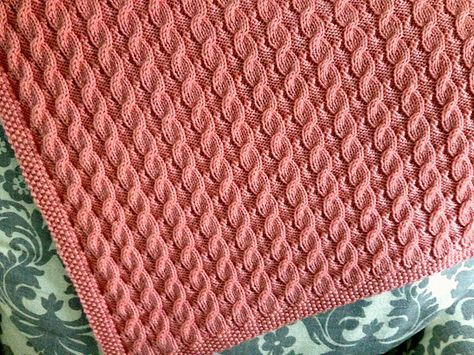 Free Pattern: Scarlett\'s Reversible Cable Baby Blanket by Suzanne ...