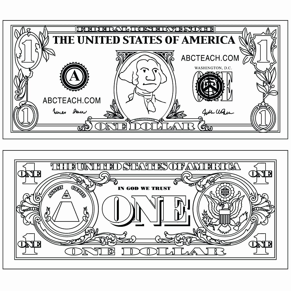 Money Coloring Pages For Kindergarten In With Images