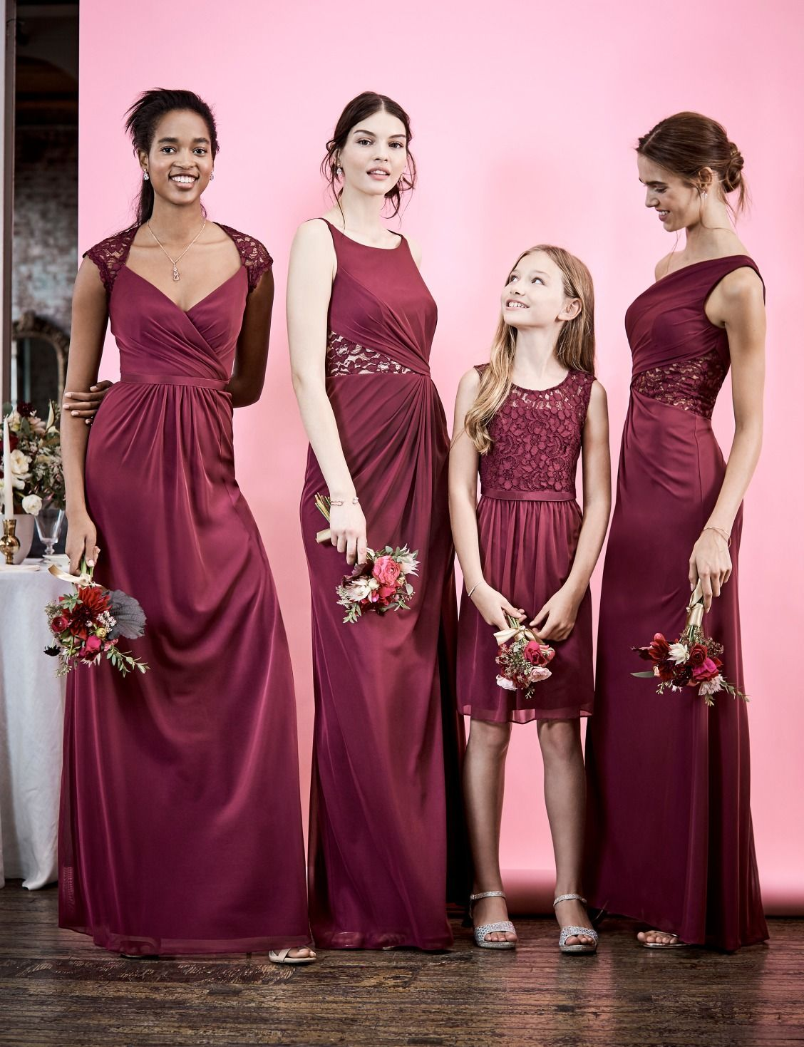 lace bridesmaid dresses in our favorite shade? Yes, please! Shop ...