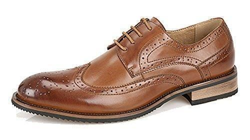 Hombre 4 Orificios Bajo resistente Corbata Zapato con Con Forro De Cuero - Marron, 24 EU