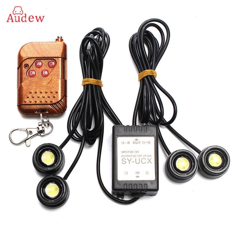 Strobe Lights For Cars Adorable Universal 4In1 12V 12W Hawkeye Led Car Emergency Strobe Lights Drl Decorating Inspiration