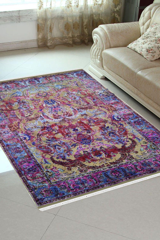 Pink Dragon Handmade Sari Silk Modern Area Rugs And Carpets Online