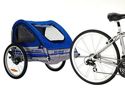 Pacific Cycle Schwinn Trailblazer Double Bicycle Trailer Blue Gray