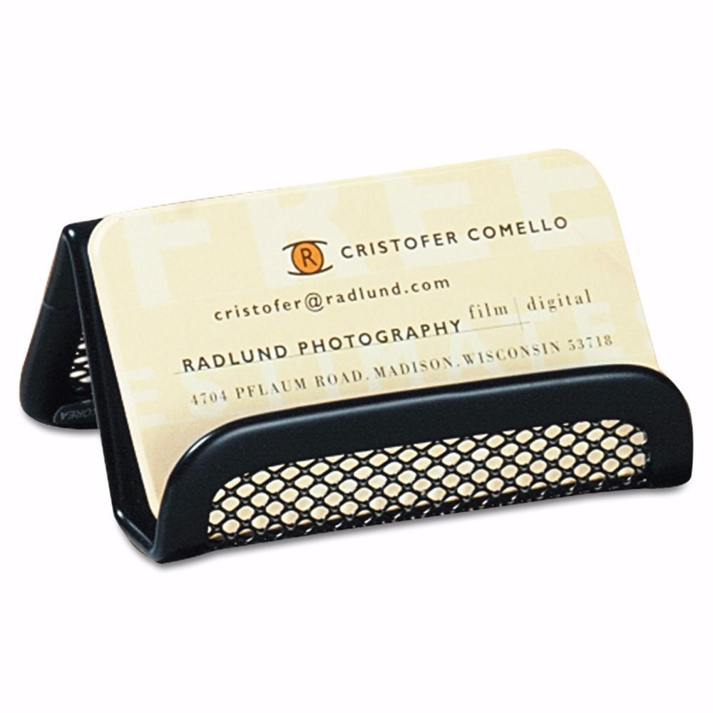 Rolodex Mesh Business Card Holder 50 Card Capacity - Black ...