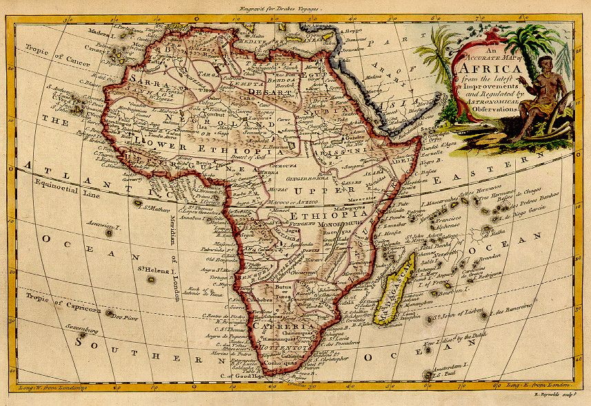Africa, 1771 | Maps and Cartography | Africa map, Black history