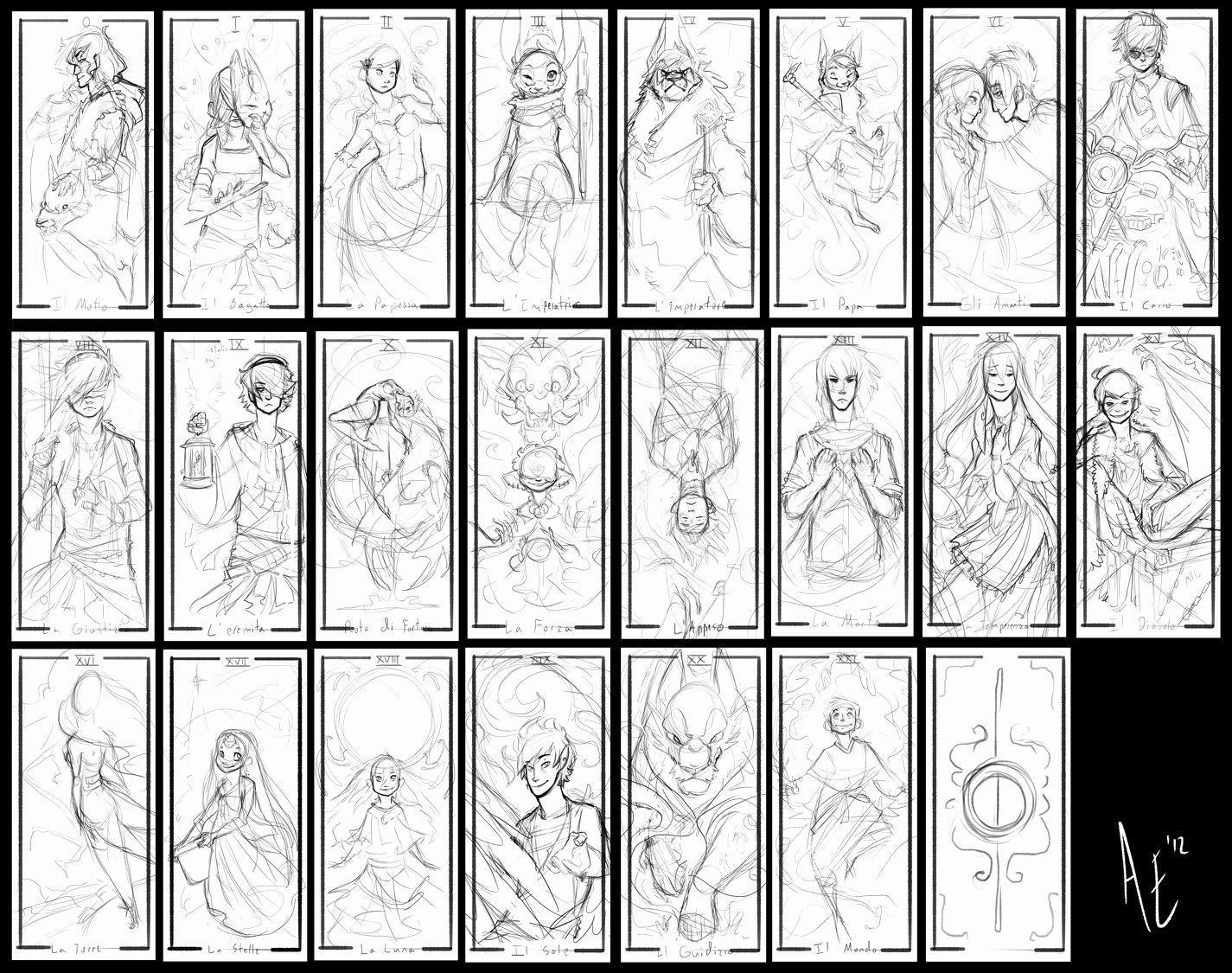 Deck Of Cards Template Luxury Turtle Tarot Rough Sketches By Turtle Arts On Deviantart Playing Cards Design Tarot Tarot Cards