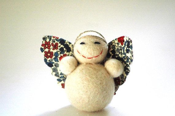 Little Bella Angel Decoration with floral wings Christmas Decoration or Ornament on Etsy, $13.31 AUD