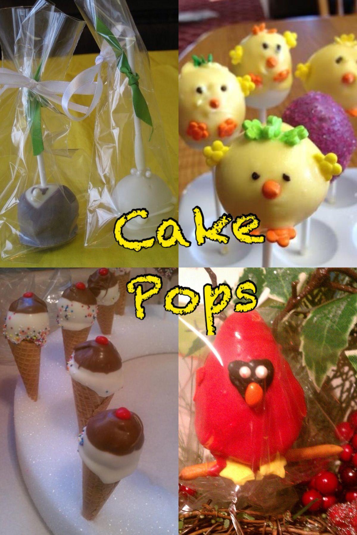 Variety of cake pops