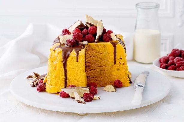 Choc-honeycomb Ice-cream Cake Recipe - Taste.com.au