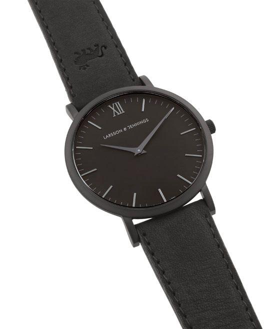 c309f40ea088 Larsson and Jennings Black Svart Classic Lader Watch