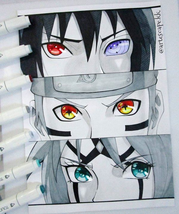 Naruto Shippuden Eyes With Images Naruto Painting Naruto