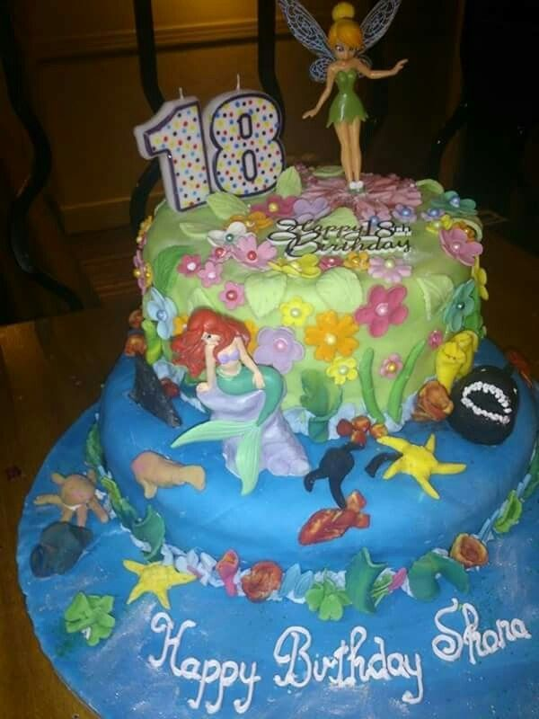 18th Birthday Cake For My Granddaughter Vintage Cakes Pinterest