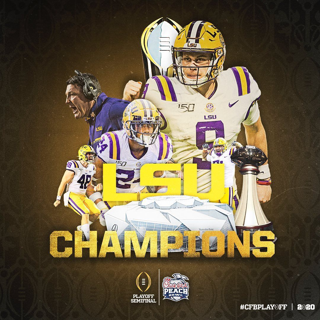 College Football Playoff On Instagram Geauxing To The Ship No 1 Lsu Advances To The Cfbplayoff Nationalchampionshi In 2020 Lsu Tigers Football Lsu Football Lsu