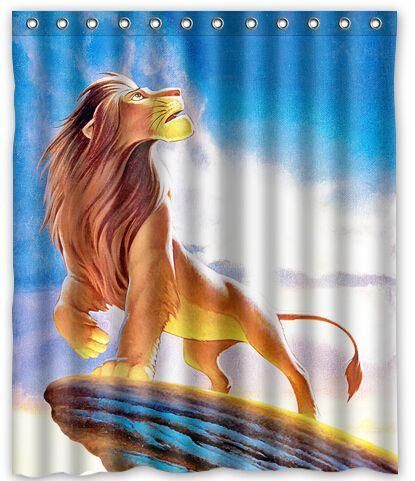 Lion King Shower Curtain Simba Lion Curtains
