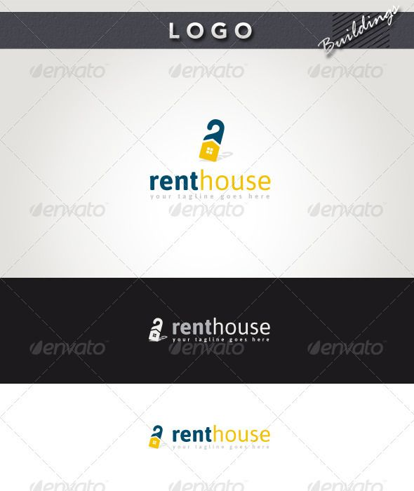 Rent House Logo House logos, Building logo and Logos - house for rent template