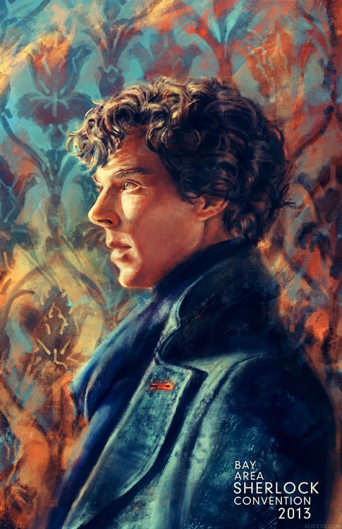 Portrait of Sherlock fan art | apartment 221B