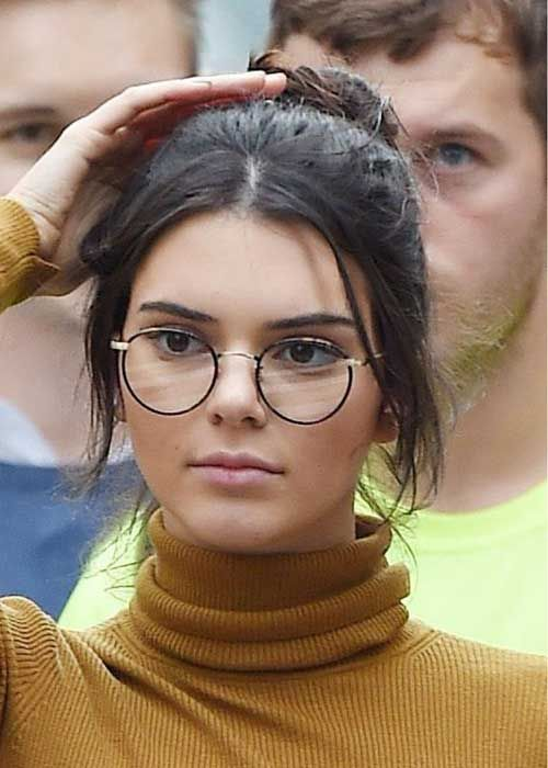 ee8d679357 Kendall Jenner in Round glasses. celebrities embracing prescription glasses