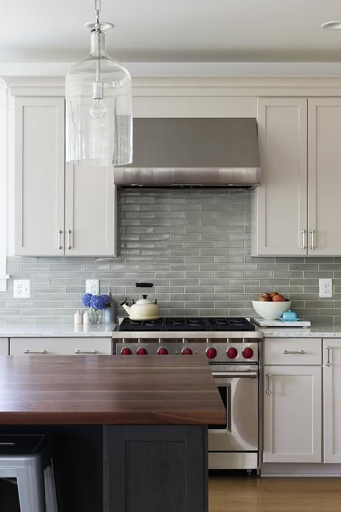 Best Example Of A Classic Gray Light Green And White Kitchen 400 x 300