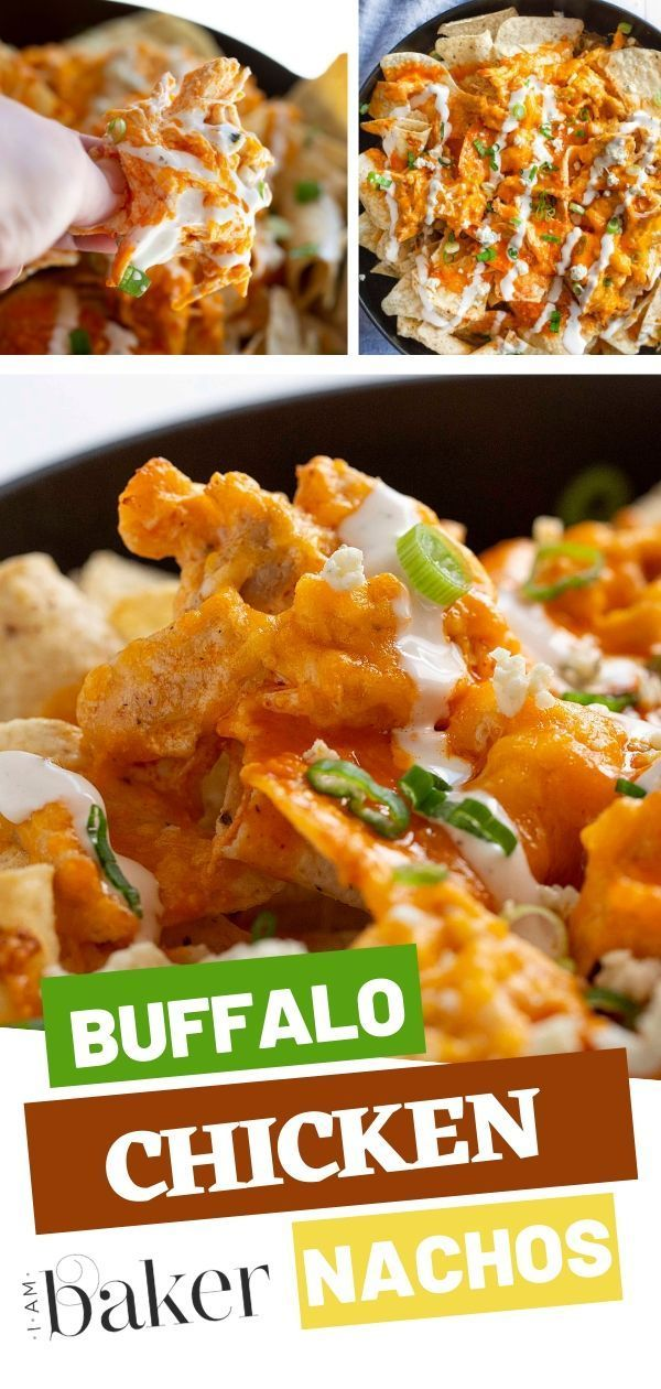 Buffalo Chicken Nachos {VIDEO} | i am baker