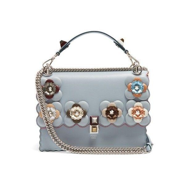 Fendi Kan I flower-embellished leather shoulder bag ( 3