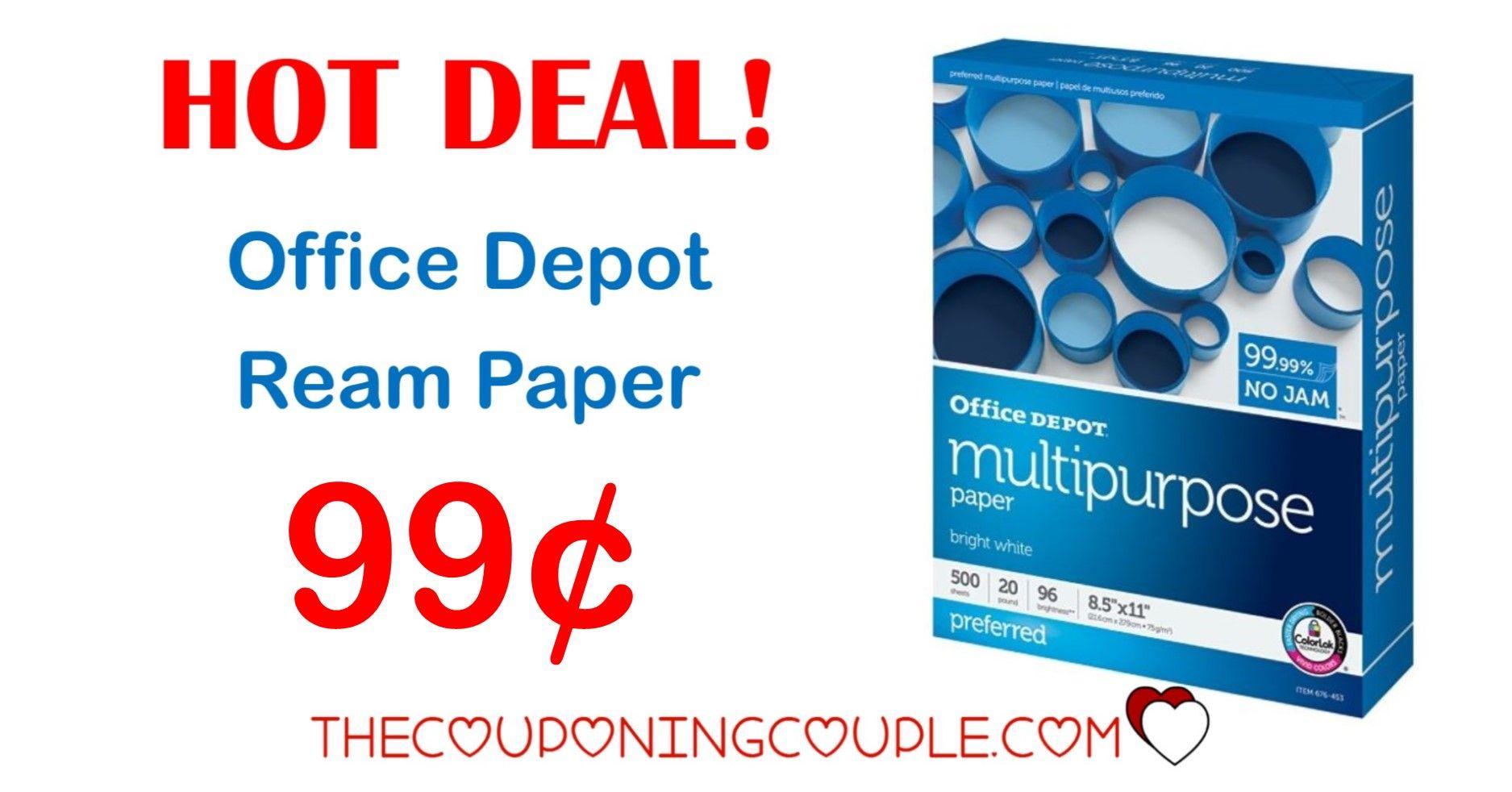 HOT DEAL! Office Depot Ream Paper Only 0.99 per Ream