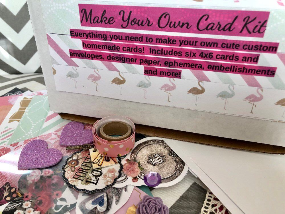 diy card kit make your own cards craft gift art box