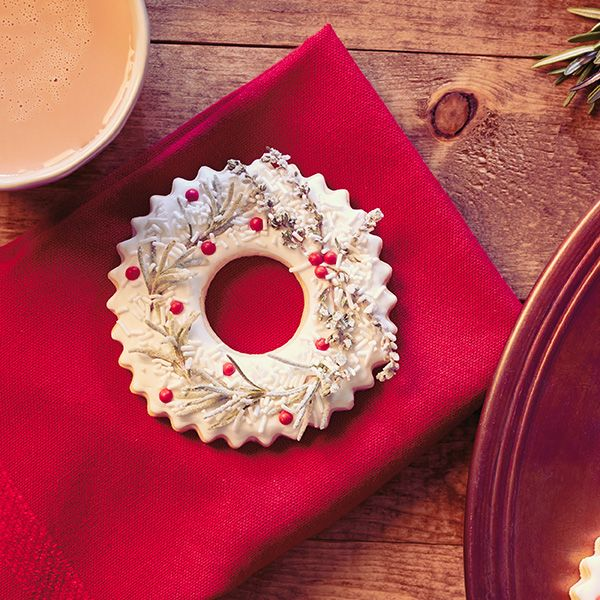 Photo of Sugar Cookie Christmas Wreaths with Lemon Icing and Sugared Herbs