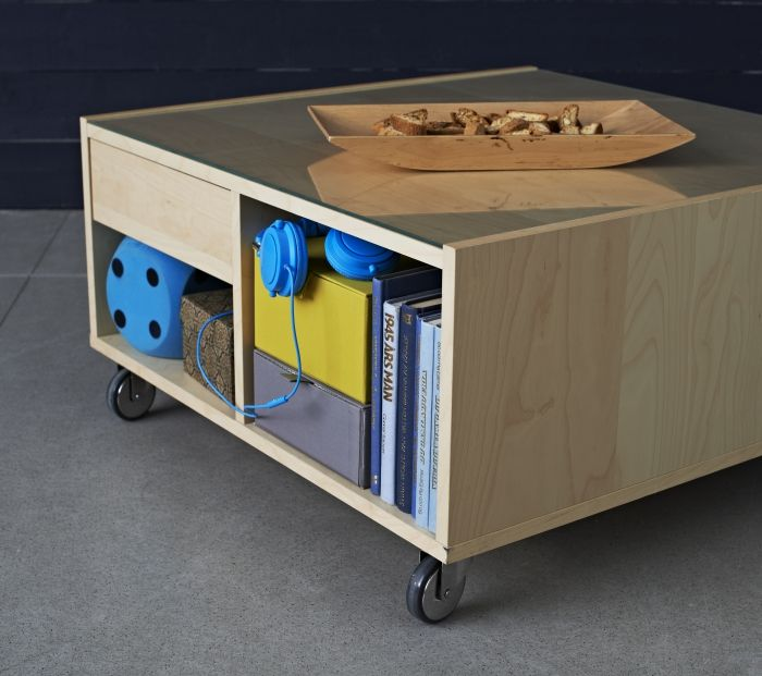 The BOKSEL Coffee Table Provides Convenient Storage For