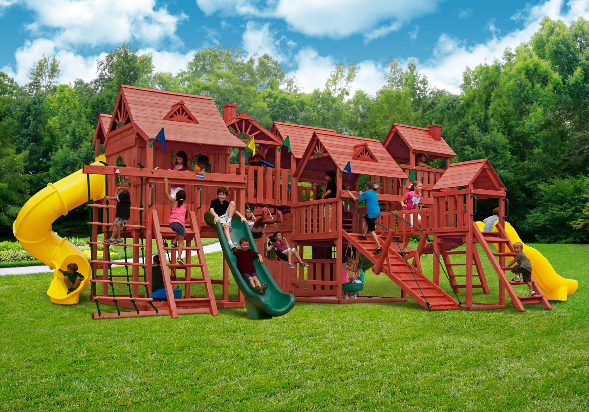 Gorilla Playsets Metropolis Wooden Play Set From Nj Swingsets Saved To Backyard Playground Play Backyard Playground Backyard Play Equipment Backyard Playset