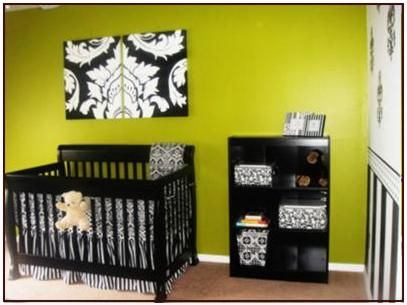maybe black and white instead of blue and brown with my green walls ...