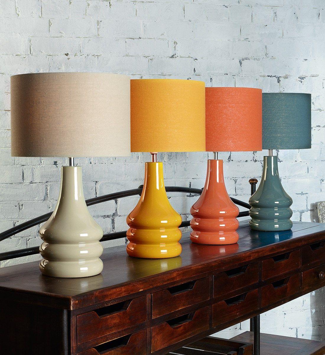 Raj Table Lamp Burnt Orange
