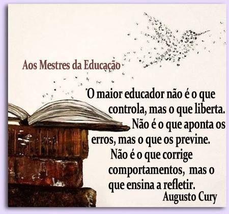 Augusto Cury Facebook Educação