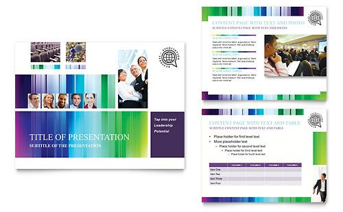 business leadership conference powerpoint presentation template, Presentation templates