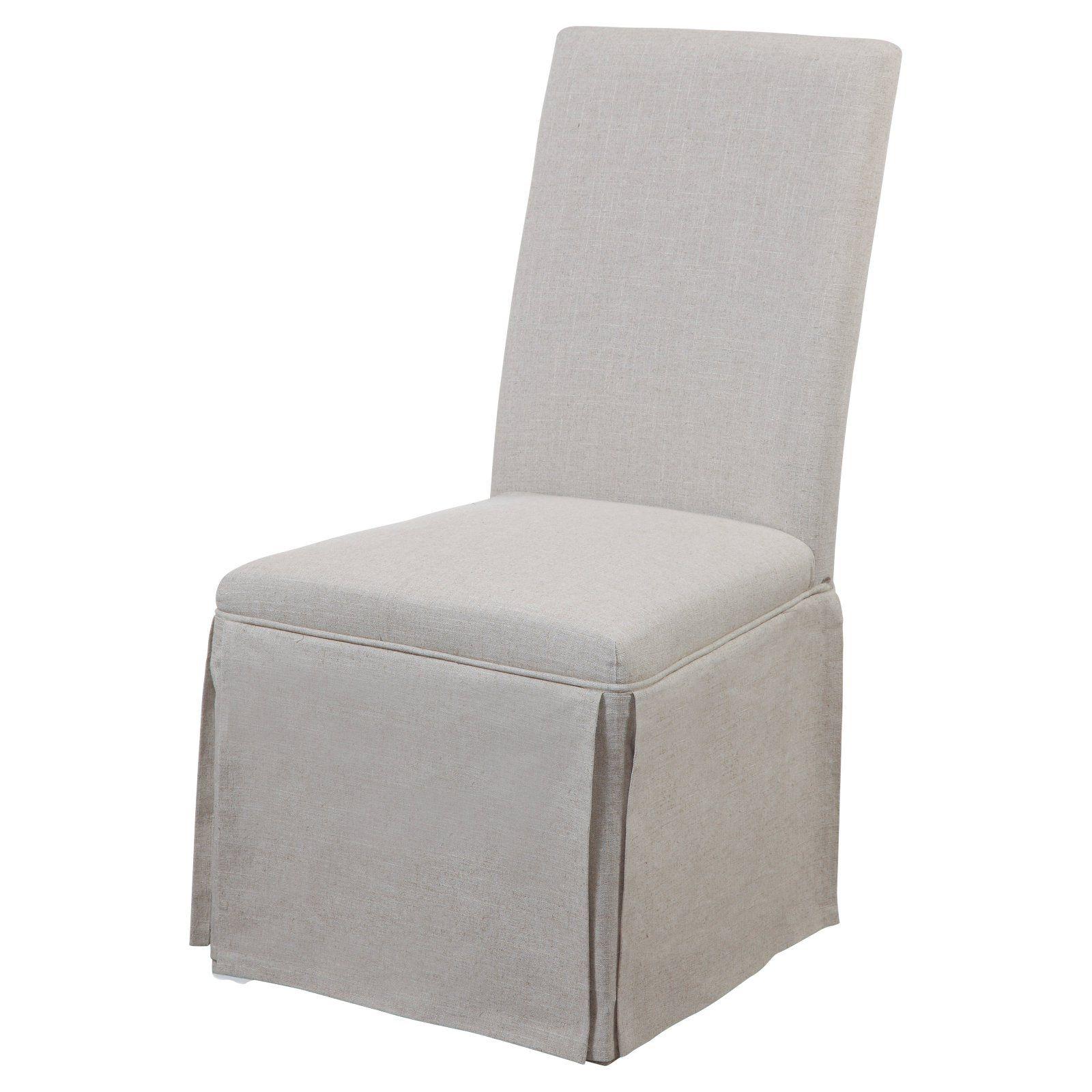 Astonishing Bassett Mirror Skirted Dining Parson Chair Set Of 2 Gray Ibusinesslaw Wood Chair Design Ideas Ibusinesslaworg