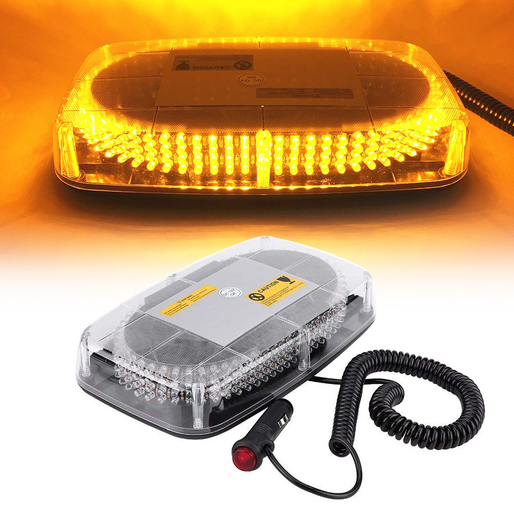 Car LED Emergency Warning Light Bar 12V/24V Amber Yellow