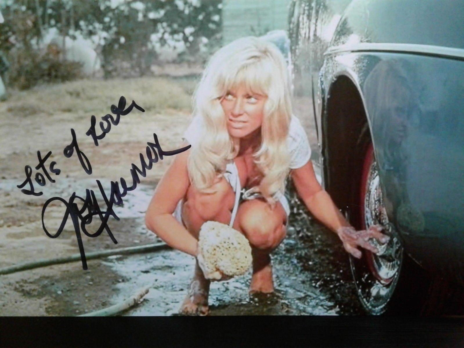 Joy Harmon auténtico autógrafo 4X6 foto firmada a mano