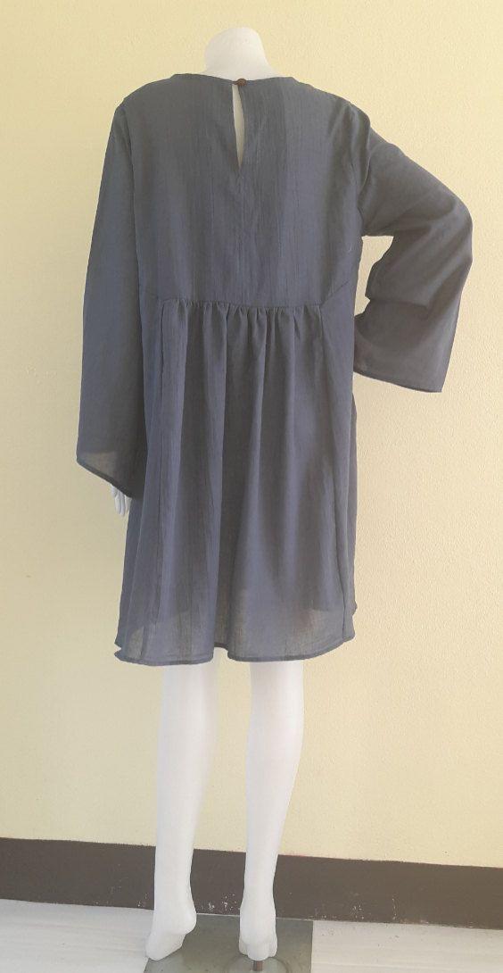 Vestidos sueltos/Casual/verano vestidos/Además Tamaño XS - 9XL  Hecho de tela con peso ligero. longitud 36-38 pulgadas.  HECHO A LA MEDIDA  Vestido (Tamaño - pulgadas)  talla XS  Busto 36-37  hombro 14  longitud 36-38 --------------------------  talla S  Busto 38-39  hombro 15  longitud 36-38 ---------------------------  talla M  Busto de 40-41  hombro 15.5  longitud 36-38 --------------------------- talla L  Busto 42-43  hombro 16  longitud 36-38 --------------------------- sizeXL  Busto de…