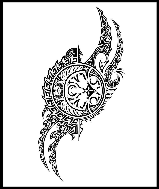 Moon Clock Tribal Tattoo Google Search Tribal Drawings Moon Tattoo Tribal Tattoos