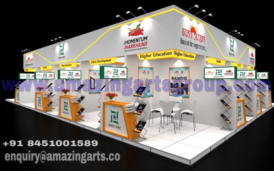 Exhibition Stall Pune : Exhibition pavilion shell scheme stalls designs