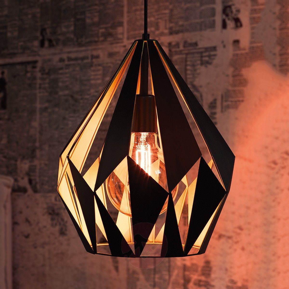 Callum Pendant Lamp Black and YellowPendant Lighting
