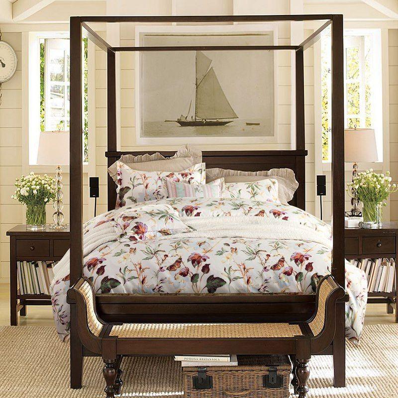 American Style 3D Flower Bedding Set Farmhouse canopy