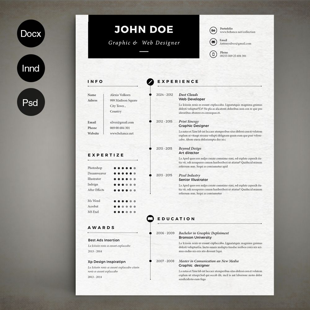 Simple Resume Simple resume, Resume design template