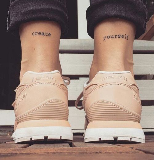 Photo of erstelle dir ein Tattoo #ink #youqueen #girly #tattoos #quote #words #text